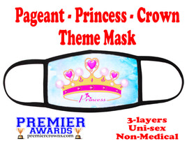 Pageant, Princess, Crown,  theme mask.  Non-Medical.  pageant 012
