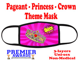 Pageant, Princess, Crown,  theme mask.  Non-Medical.  pageant 013