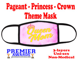 Pageant, Princess, Crown,  theme mask.  Non-Medical.  pageant 014