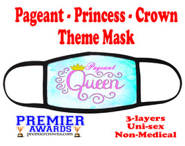 Pageant, Princess, Crown,  theme mask.  Non-Medical.  pageant 015