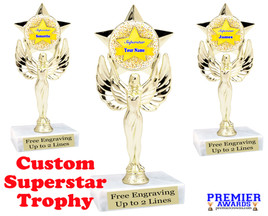 """Custom Superstar trophy.  6"""" tall with your custom name."""