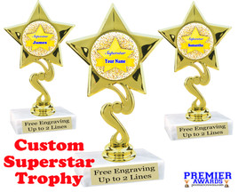 """Custom Superstar trophy.  6"""" tall with your custom name. (80106"""