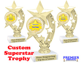 """Custom Superstar trophy.  6"""" tall with your custom name. (h208"""