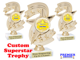 """Custom Superstar trophy.  6"""" tall with your custom name. (h300"""