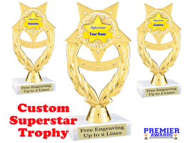 """Custom Superstar trophy.  6"""" tall with your custom name. (ph97"""