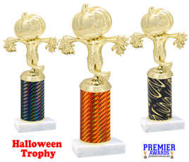 Scarecrow Trophy with choice of column color.  Numerous colors and trophy heights available
