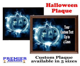 Halloween Custom Full Color Plaque.  Choice of black or brown plaque with full color plate.  5 Plaques sizes available -halloween 003