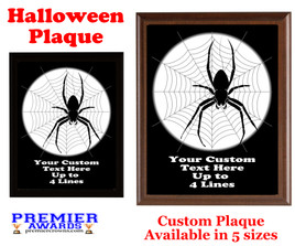 Halloween Custom Full Color Plaque.  Choice of black or brown plaque with full color plate.  5 Plaques sizes available -halloween 006