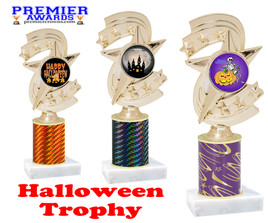 Halloween theme trophy.  One column with choice of column color, art work and trophy height.  Numerous heights available.  h300