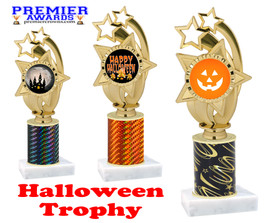 Halloween theme trophy.  One column with choice of column color, art work and trophy height.  Numerous heights available.  ph55