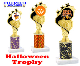 Halloween theme trophy.  One column with choice of column color, art work and trophy height.  Numerous heights available.  ph106