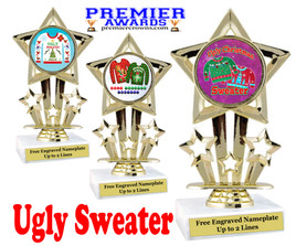 """Ugly Christmas Sweater Trophy.   6 """" tall.  Includes free engraving.   A Premier exclusive design!  767"""
