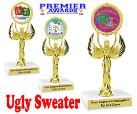 """Ugly Christmas Sweater Trophy.   6 """" tall.  Includes free engraving.   A Premier exclusive design!  80087"""
