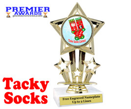 Tacky Socks Trophy.  Great award for your Holiday events, parties and pageants!  767