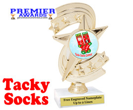 Tacky Socks Trophy.  Great award for your Holiday events, parties and pageants!  h300