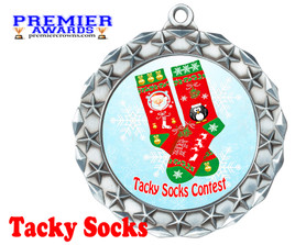 Tacky Socks Medal.  Great award for your Holiday events, parties and pageants!  md40s
