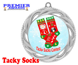 Tacky Socks Medal.  Great award for your Holiday events, parties and pageants!  938s
