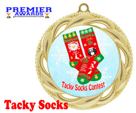Tacky Socks Medal.  Great award for your Holiday events, parties and pageants!  938g