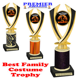 Halloween Costume Contest trophy.  Best  Family Costume.  Perfect award for your Halloween party contest.