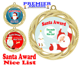 Santa's Nice List  medal.  Great medal for those in your life on Santa's nice list!  938g