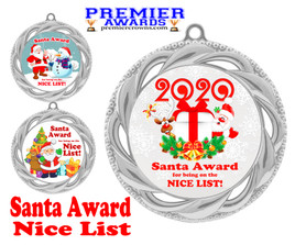 Santa's Nice List  medal.  Great medal for those in your life on Santa's nice list!  938s
