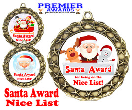 Santa's Nice List  medal.  Great medal for those in your life on Santa's nice list!  md40g