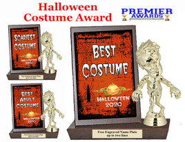 Halloween Costume Contest Plaque and Figure.   A unique award for all of your Halloween theme events and contests  (002)