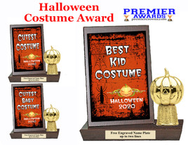 Halloween Costume Contest Plaque and Figure.   A unique award for all of your Halloween theme events and contests  (003