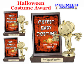 Halloween Costume Contest Plaque and Figure.   A unique award for all of your Halloween theme events and contests  (004