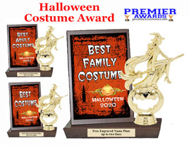 Halloween Costume Contest Plaque and Figure.   A unique award for all of your Halloween theme events and contests  (005
