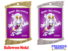 Halloween medal.  Perfect for your Halloween events, pageants, and contests!  007