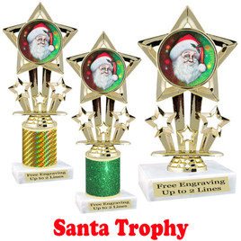 Santa trophy.  Perfect for your Holiday pageants, events, contests and more!  757