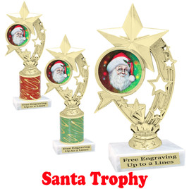 Santa trophy.  Perfect for your Holiday pageants, events, contests and more!  h208