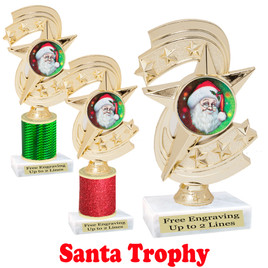 Santa trophy.  Perfect for your Holiday pageants, events, contests and more!  h300