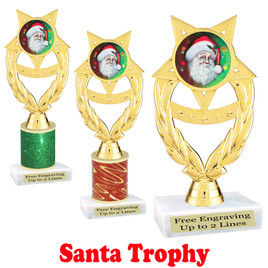 Santa trophy.  Perfect for your Holiday pageants, events, contests and more!  ph97