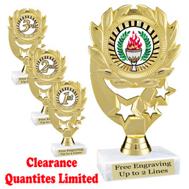 "Discontinued Clearance trophy.  6"" tall with limited quantities.  4107"