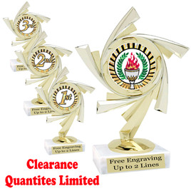 "Discontinued-Clearance trophy.  6"" tall with limited quantities.    5075"