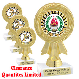 "Discontinued - Clearance trophy.  6"" tall with limited quantities.  5091"