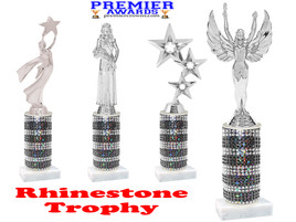 Rhinestone trophy.  Add some bling to your pageants, contests, events and more!