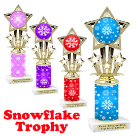 Snowflake theme trophy.  Great for you Winter themed events!  767