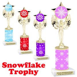 Snowflake theme trophy.  Great for your Winter themed events! 7517