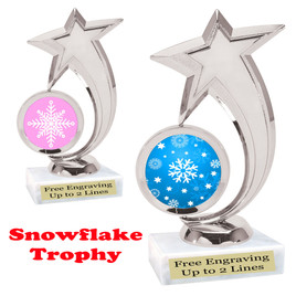 Snowflake theme trophy.  Great for your Winter themed events! 6061