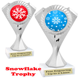 Snowflake theme trophy.  Great for your Winter themed events! 5455