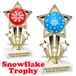 Snowflake theme trophy.  Great for your Winter themed events! 767