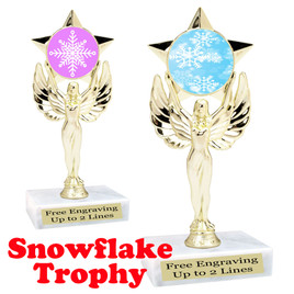 Snowflake theme trophy.  Great for your Winter themed events!  7517-snow