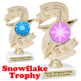 Snowflake theme trophy.  Great for your Winter themed events!  h300-snow