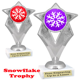 Snowflake theme trophy.  Great for your Winter themed events! 5086-snow