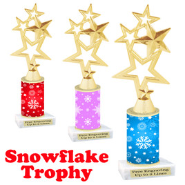 Snowflake theme trophy.  Great for you Winter themed events!  4115