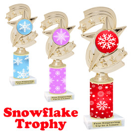 Snowflake theme trophy.  Great for you Winter themed events! h300