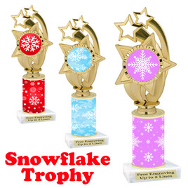 Snowflake theme trophy.  Great for you Winter themed events! ph55